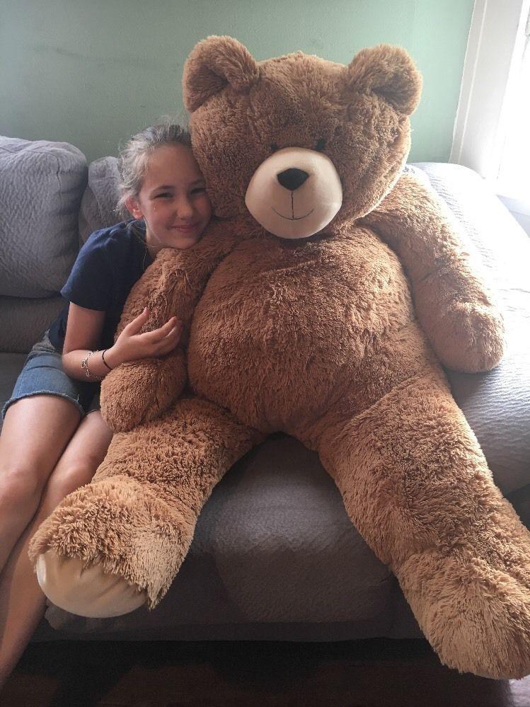 Beautiful Vermont Teddy Bear Big Hunka Love Giant Plush Bear 4 Feet Tall Brown  #VermontTeddyBearCo #
