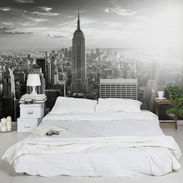 Vliestapete - Manhattan Skyline - Fototapete Breit   Bedroom Ideas ...