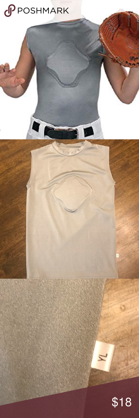 Markwort Youth Heart-Gard Protective Compression Body Shirt White