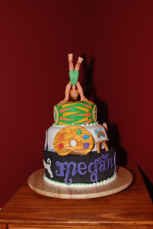 Megans 9th B Day Cake Gymnastics Art And The Elms