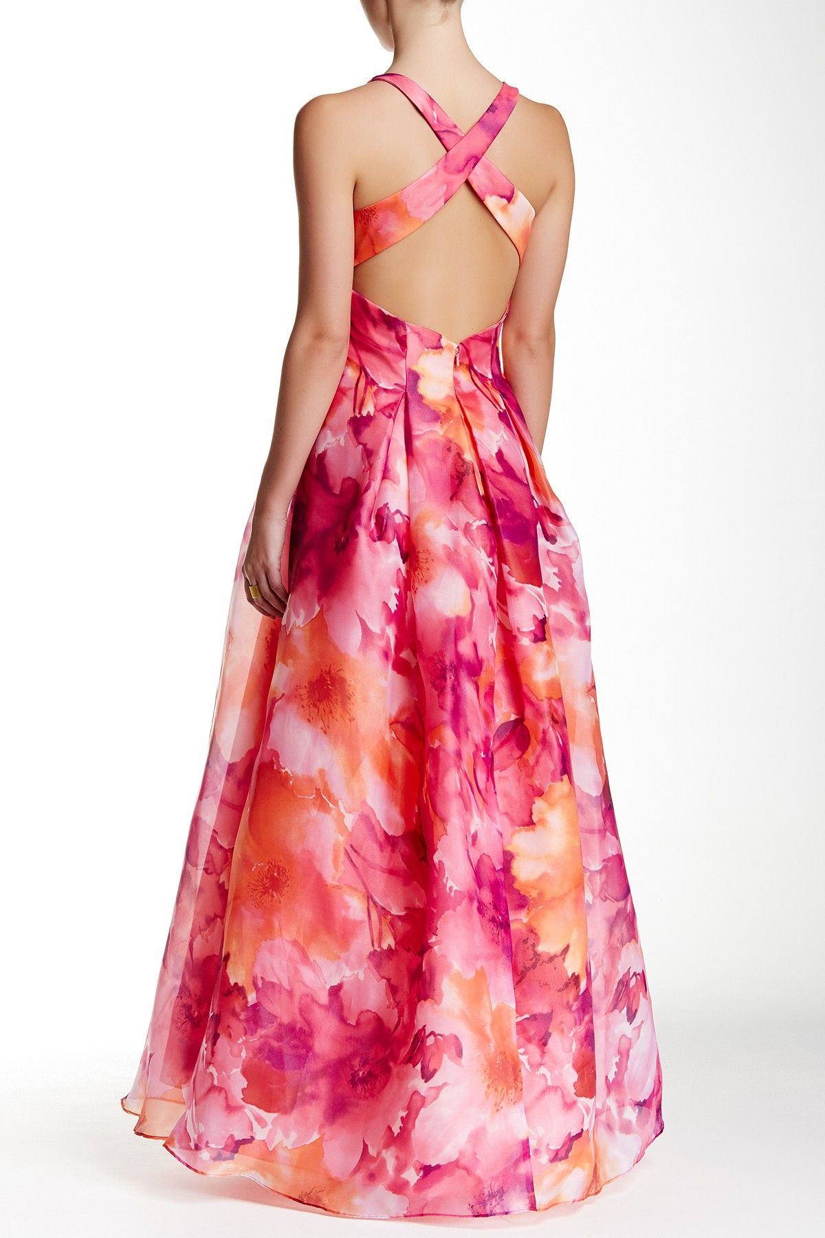 Cross Back Printed Ball Gown | Ball gowns, Nordstrom and Gowns