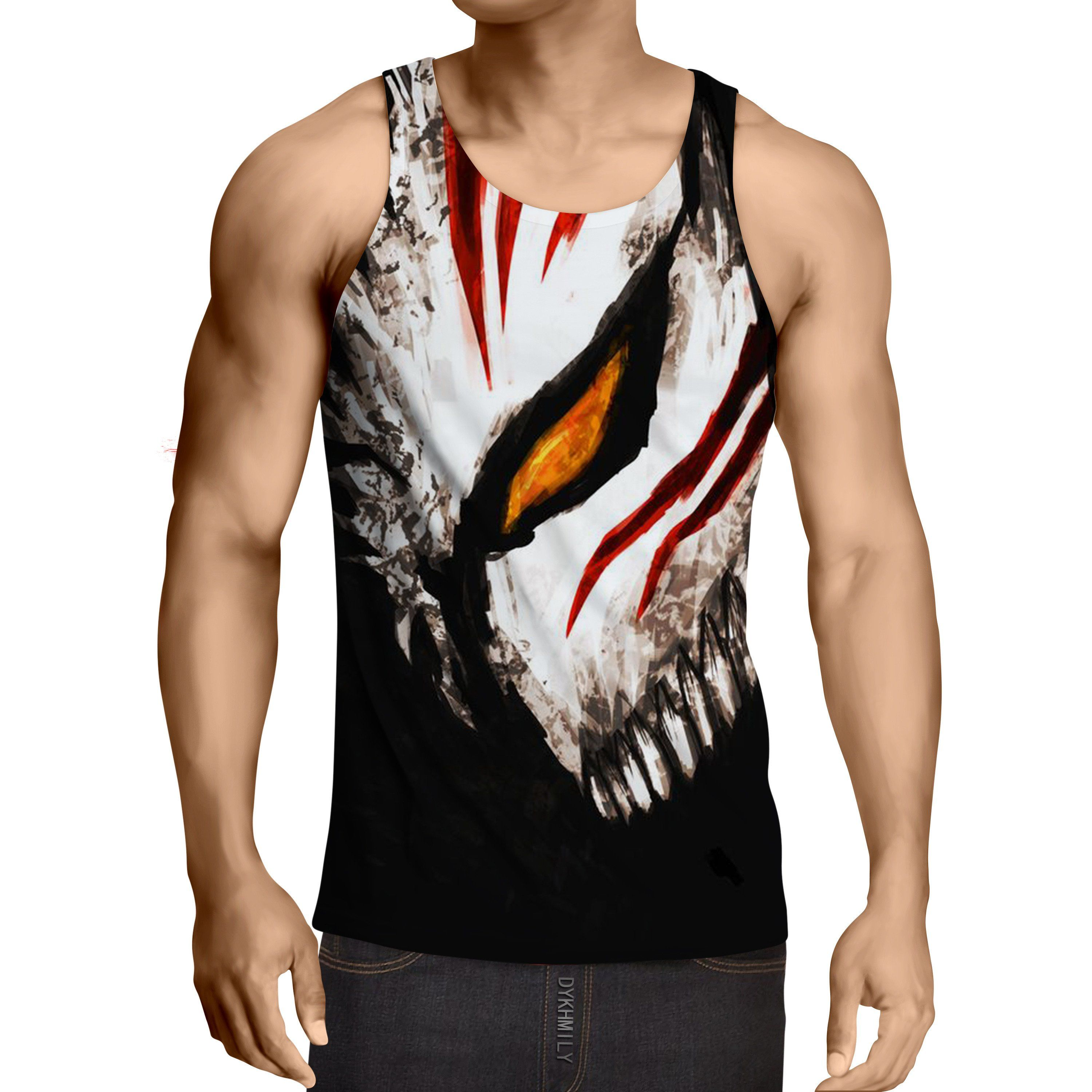 01661364 Cool Half Hollow Mask Bleach Tank Tops | Products