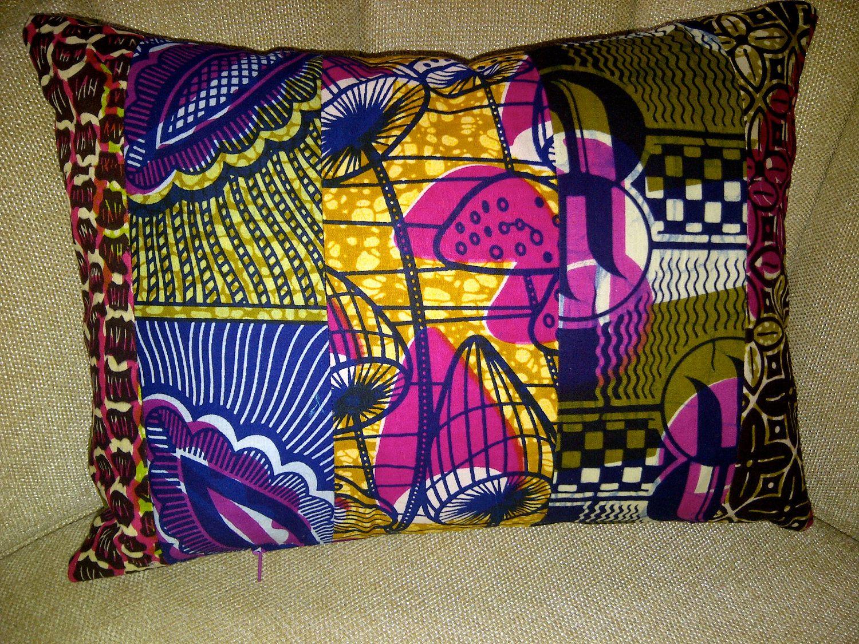 African Mix Print Cushion. $30.00, via Etsy.