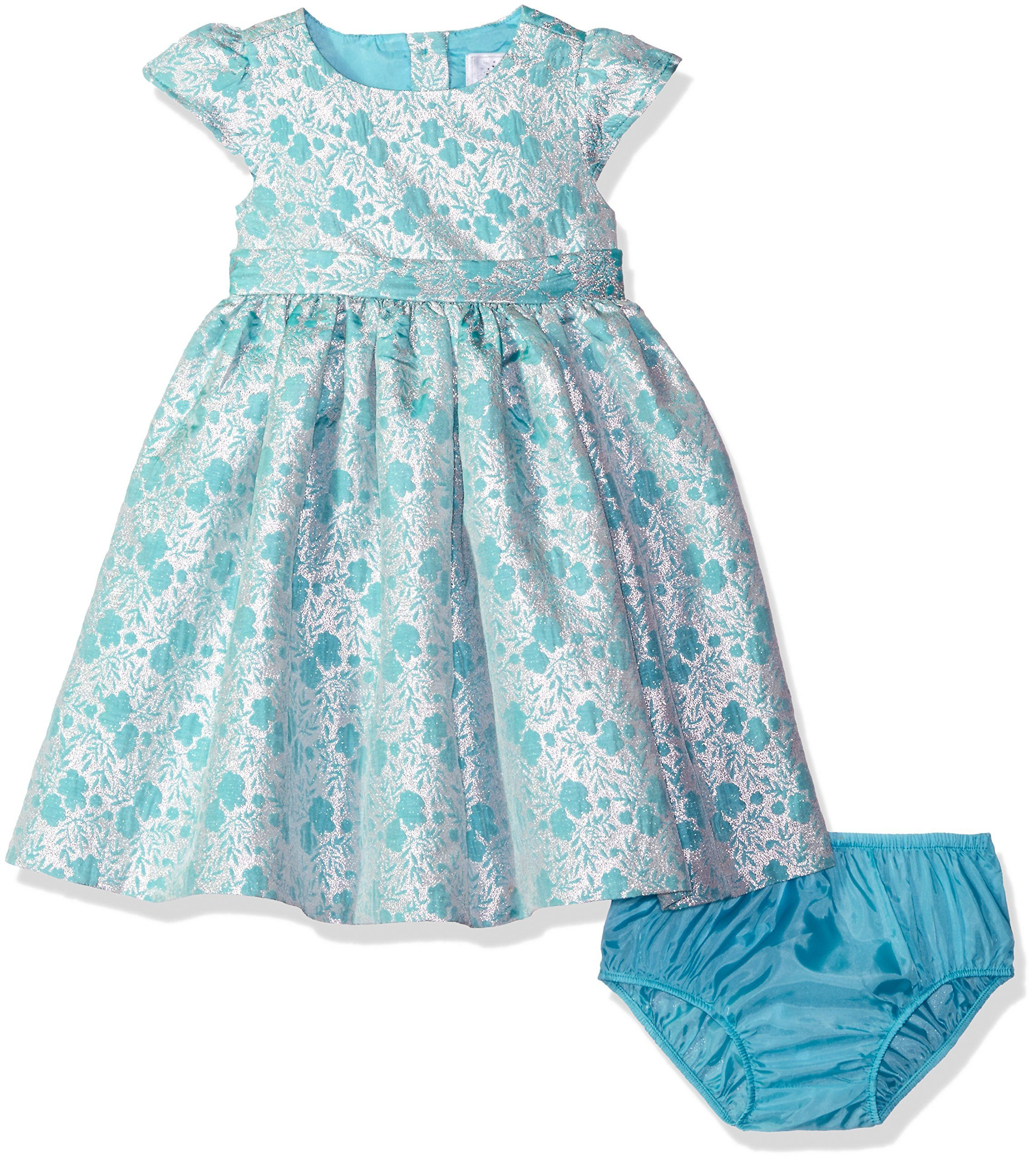 Gymboree Toddler Girls Mint And Silver Floral Jacquard Dress Multi 3t Empire Waist Detail Back Bow Detail Jacquard Dress Dresses Toddler Girl [ 2560 x 2282 Pixel ]
