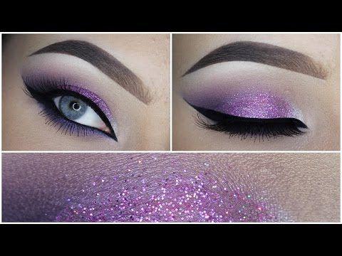 cd184086476 Classic Silver Glitter Eye Makeup Tutorial - YouTube
