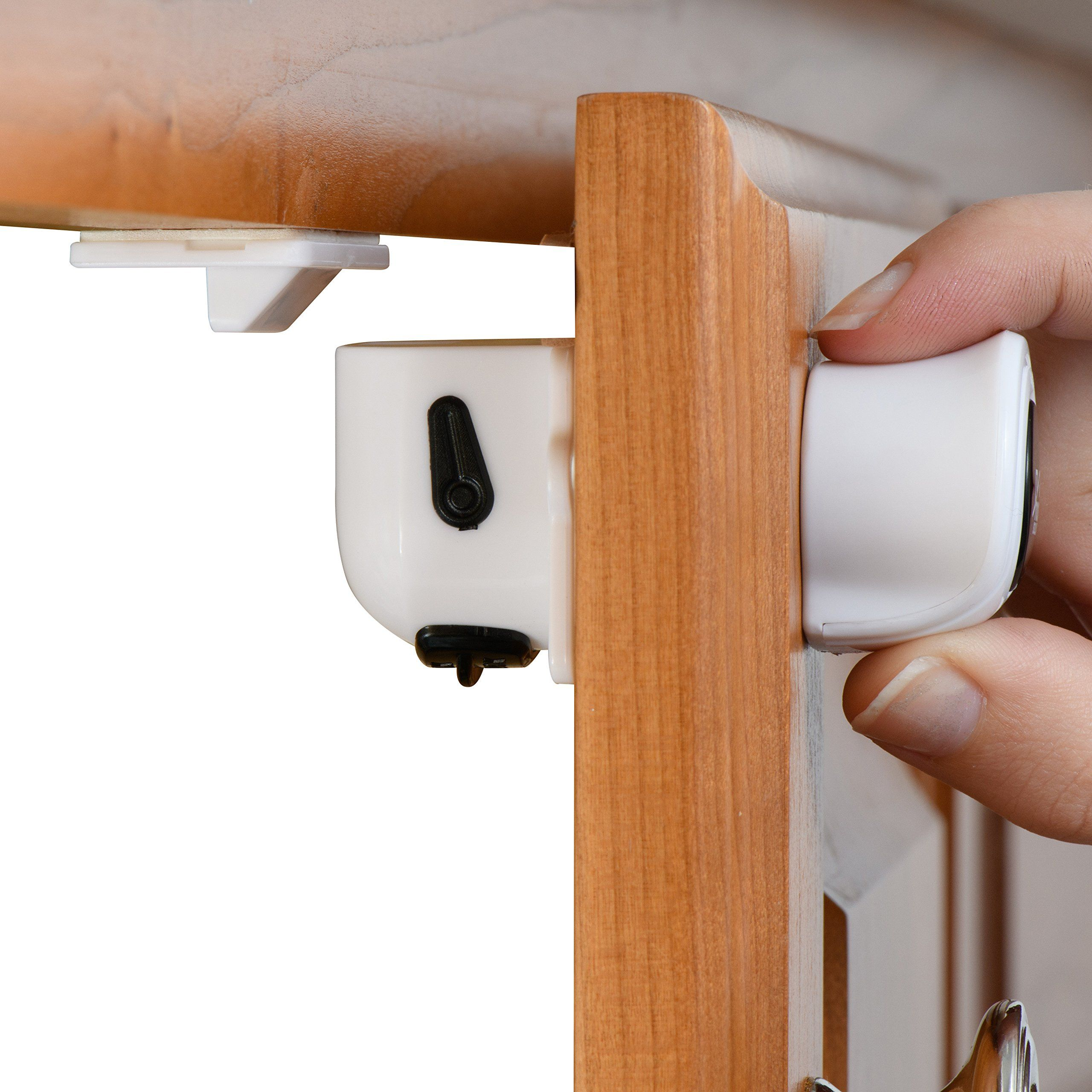 Super Hold Magnetic Cabinet Locks Easy To Install With 3m Adhesive