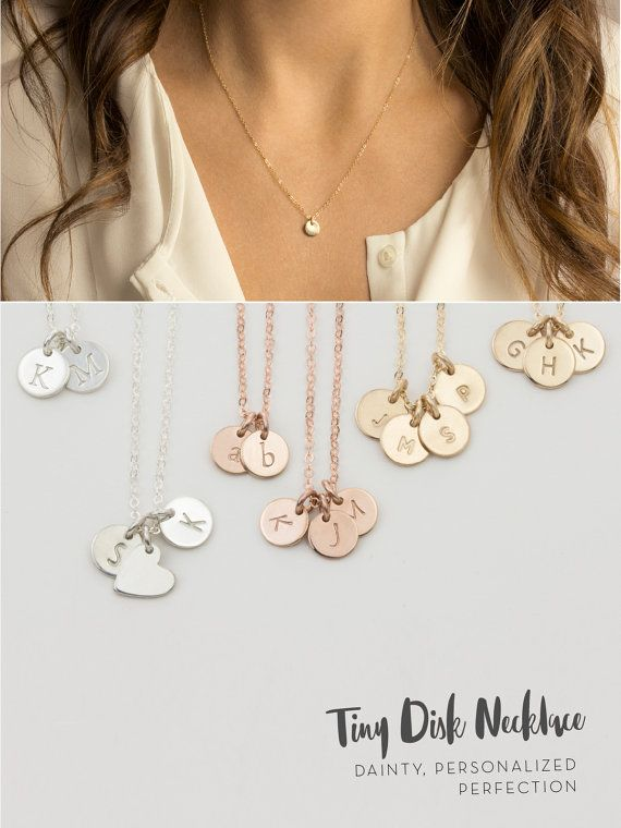 Custom initial necklace mothers necklace with dainty custom custom initial necklace mothers necklace best friends necklace sister necklace personalized by hand aloadofball Images