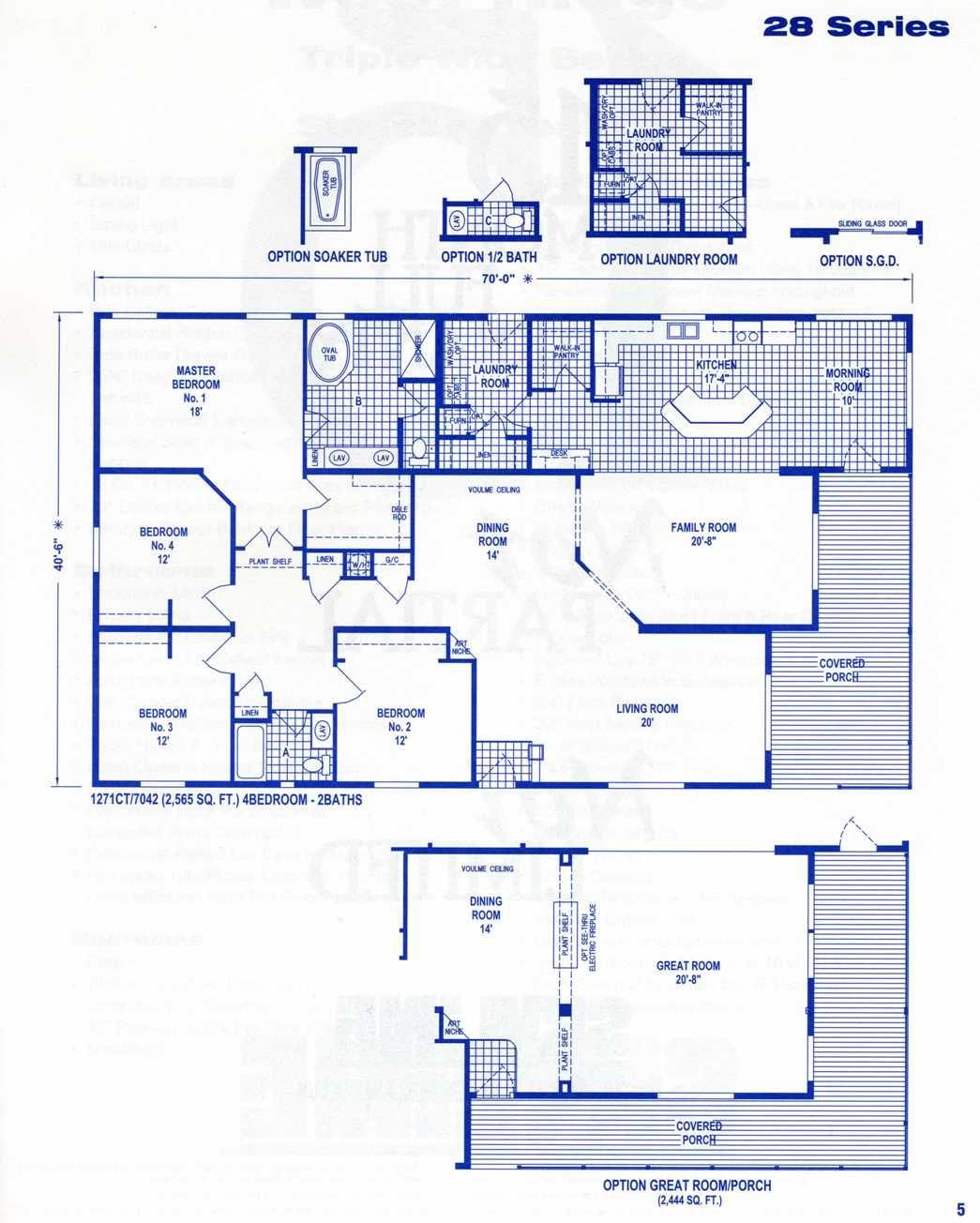 West Ridge Triple Wide Floor Plans Mobile Home Floor Plans Floor Plans House Floor Plans