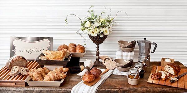 French Breakfast Table Setting Buffet Decorating Ideas Elegant Table Setting