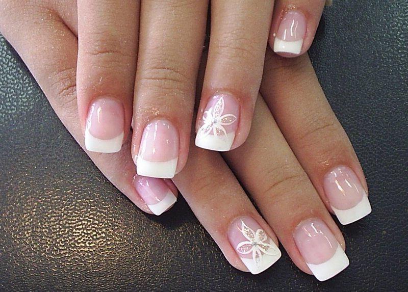 French Nail Manicure Nail Art Designs | Beauty | Pinterest ...