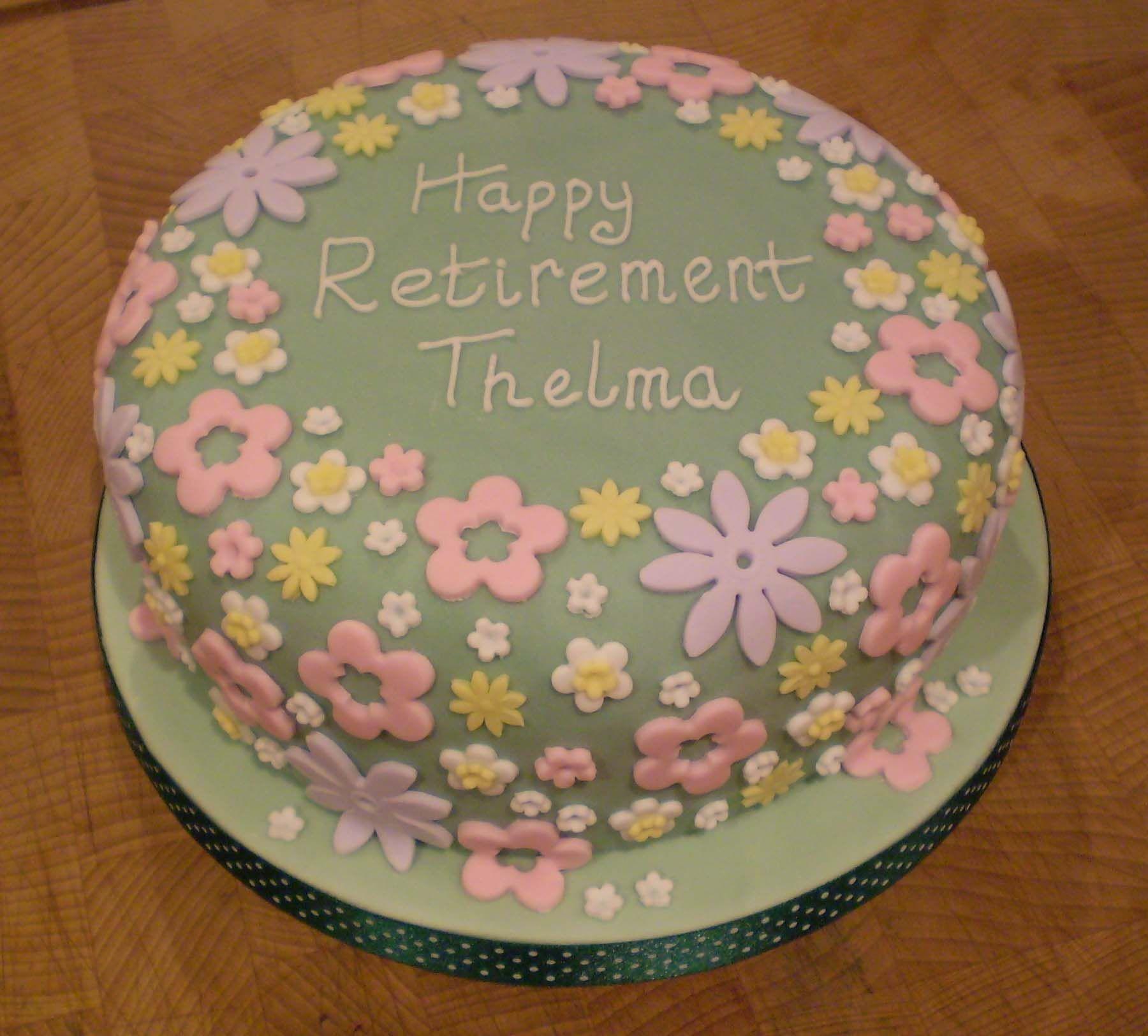 Retirement Cake Ideas For Women Flower Garden Retirement Cake
