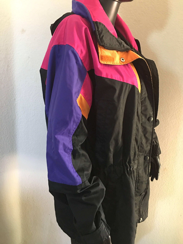 Vintage The North Face Color Block Rainbow Black Pink Purple Etsy Color Block Jacket Black North Face Orange Coat [ 3000 x 2250 Pixel ]