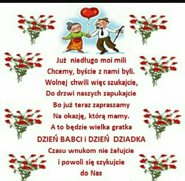 55910fbbd6ddf7 Zaproszenie na dzień babci i dziadka | Święta | Dzień babci i ...