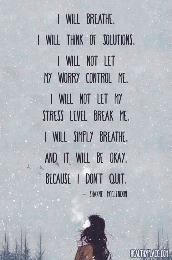 I Will Breathe And It Will All Be Ok The Care And Keeping Of Me
