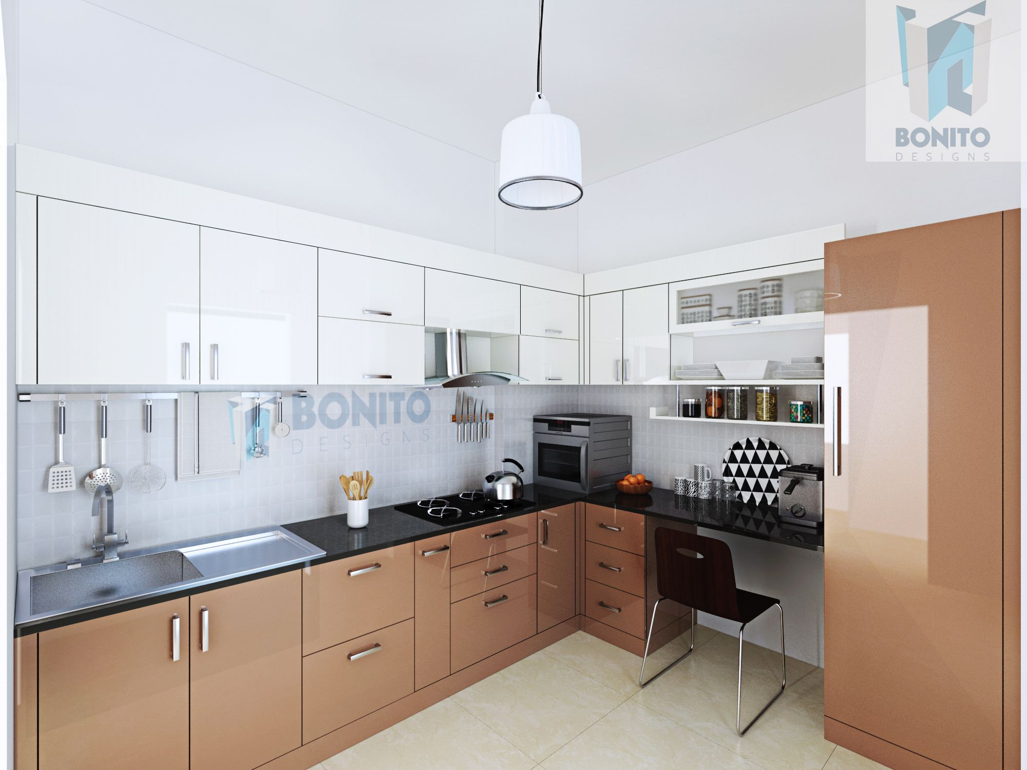 Modular kitchen taken to a new level by Bonito Designs. The ...
