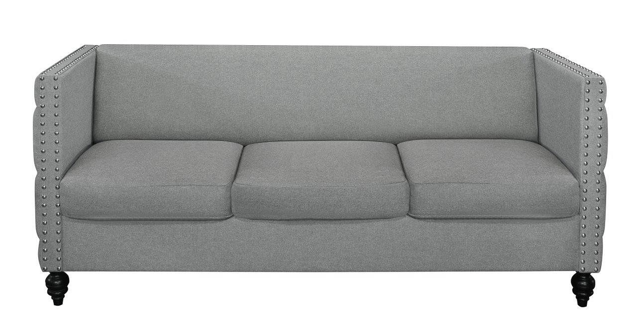 home design yuma modern styled linen fabric sofa light