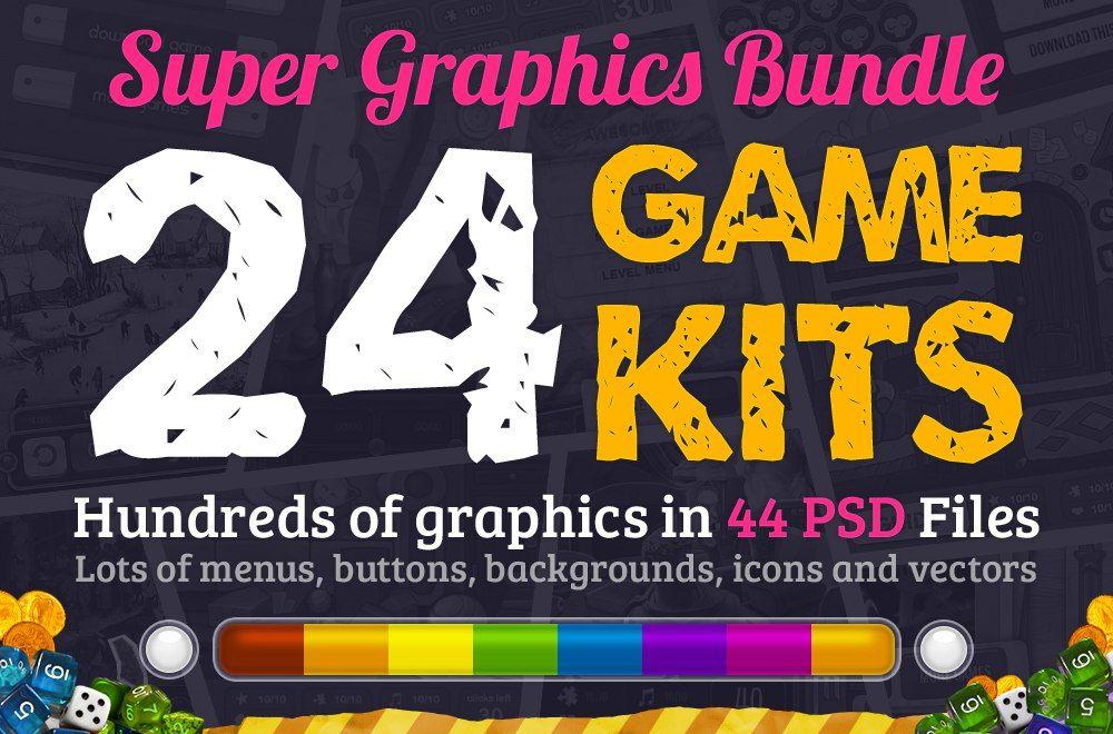 Mega Game Creation Kit 91634  #psd #bundle #game_kits #icon #vector #button #apk #interface