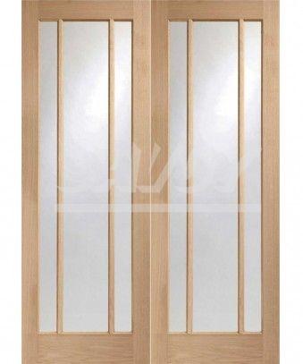 Internal Oak Worcester Door Pair Glazed with Clear Glass | Savoy Timber & Internal Oak Worcester Door Pair Glazed with Clear Glass | Savoy ... pezcame.com