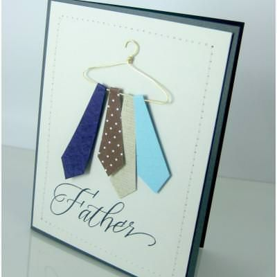 Tie Hanger Card Father S Day Card Homemade Fathers Day Gifts Dad Birthday Card Diy Father S Day Cards