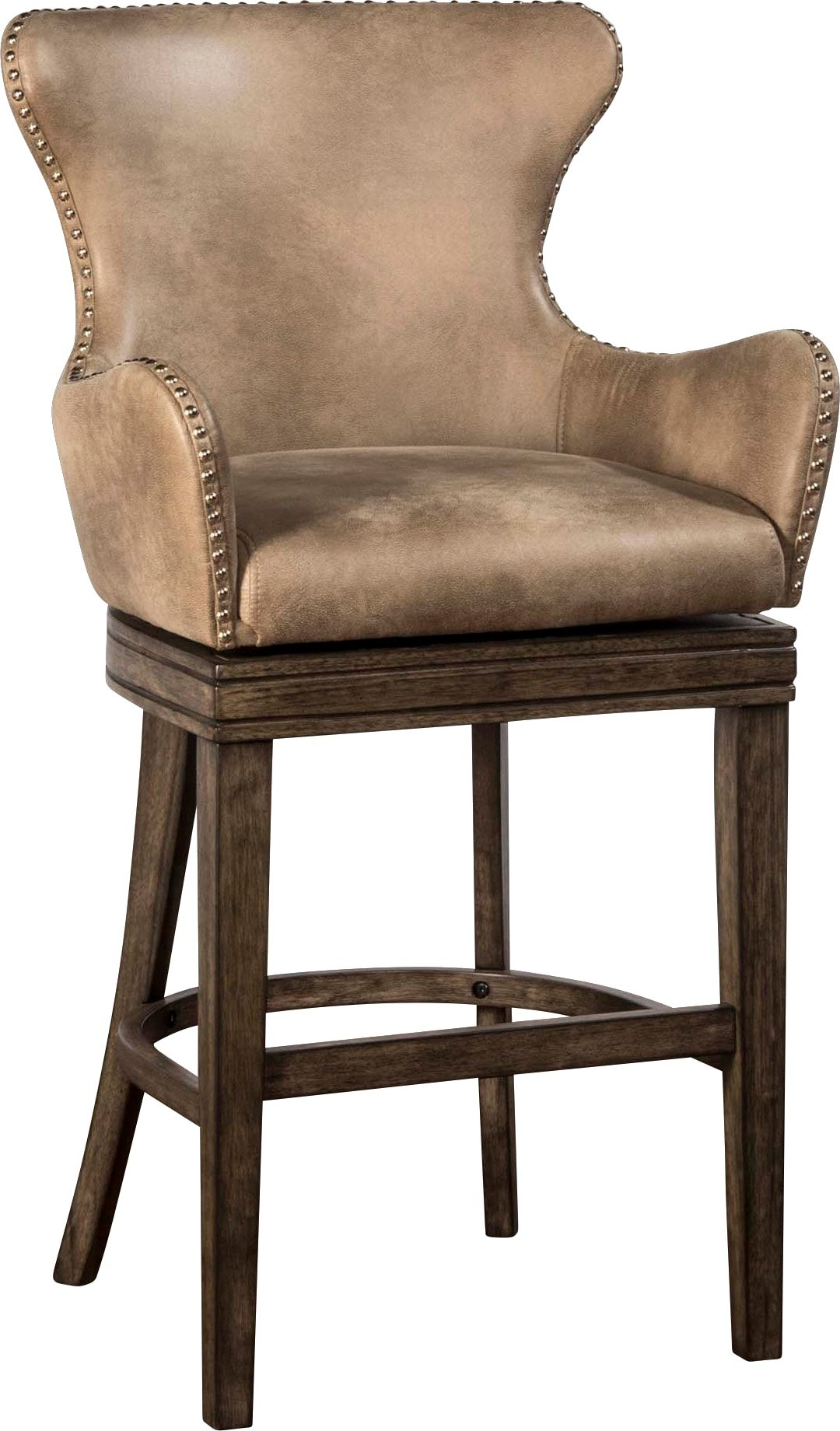 Donella beige swivel counter height stool bar stools