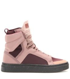 Stella McCartney Pink Freestyle High-Top Sneakers