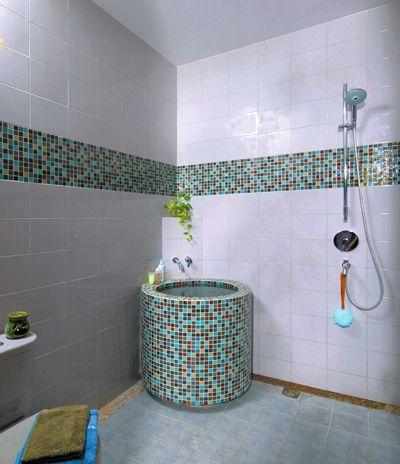 model sederhana dengan bak kamar mandi minimalis desain