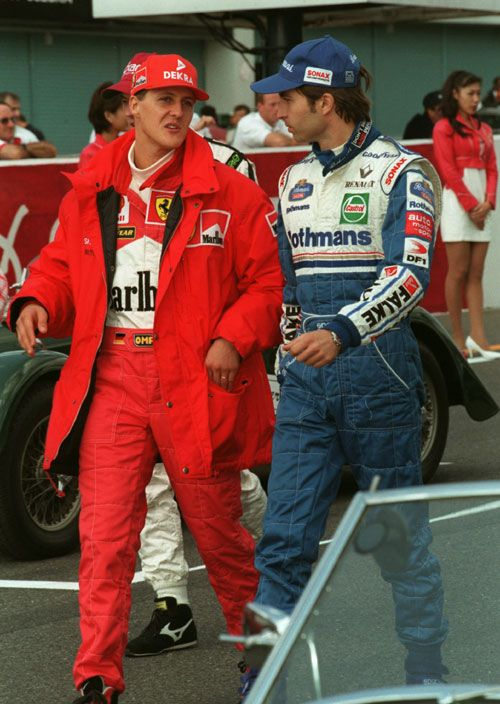 Michael Schumacher Chats To Heinz Harald Frentzen Com Imagens