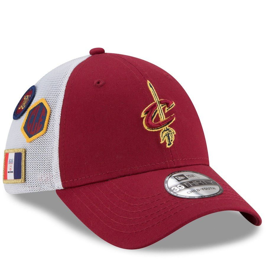 3d0ad51b6e9 Youth Cleveland Cavaliers New Era Burgundy 2018 Draft 39THIRTY Flex ...