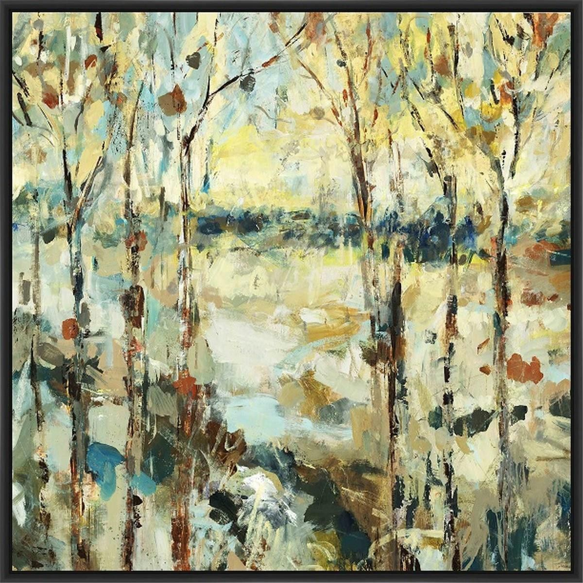 WILD WALKS 28L X 28H Floater Framed Art Giclee Wrapped Canvas ...