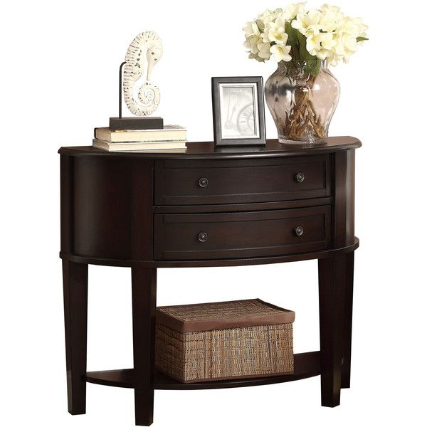 Lovely Coaster Storage Entry Way Console Table Hall Table Brown Finish
