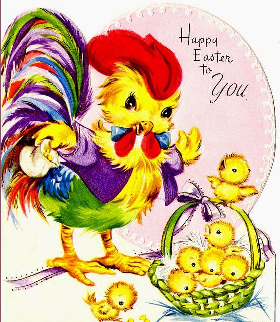 Easter rooster card by raidensgrammie21, via Flickr