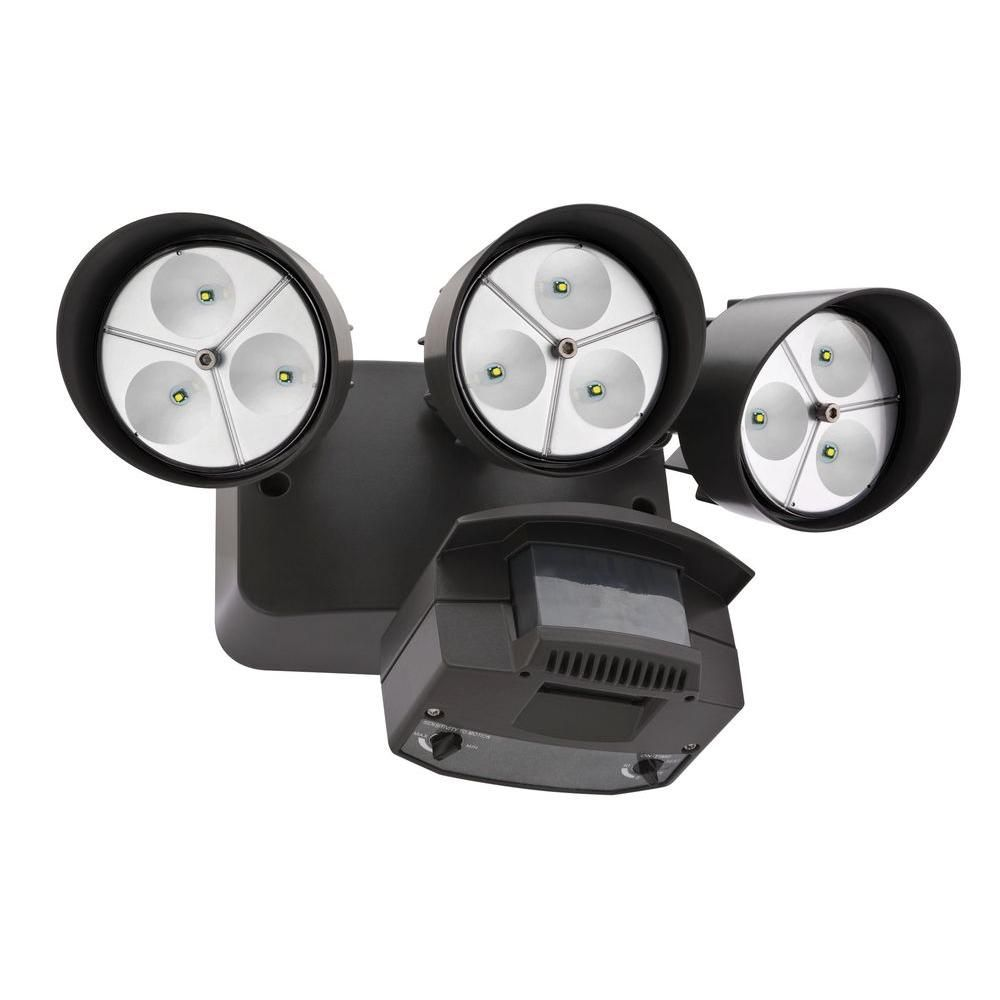Lithonia Lighting Wall-Mount Outdoor Bronze LED Flood Light with ...