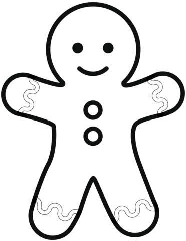 Simple Gingerbread Man Coloring Page Christmas Coloring Pages Gingerbread Man Coloring Page Coloring Pages