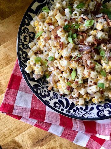 Creamy Summer Sweet Corn Pasta Salad - The Skinnyish Dish