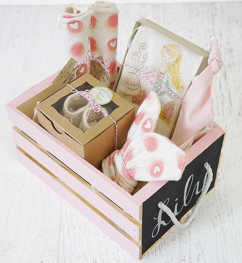 Baby Girl Gift Box Flamingo Theme Baby Shower Gift Organic Baby Gift Keepsake Box Baby Girl Gifts Corporate Baby Gift Baby Girl Gift