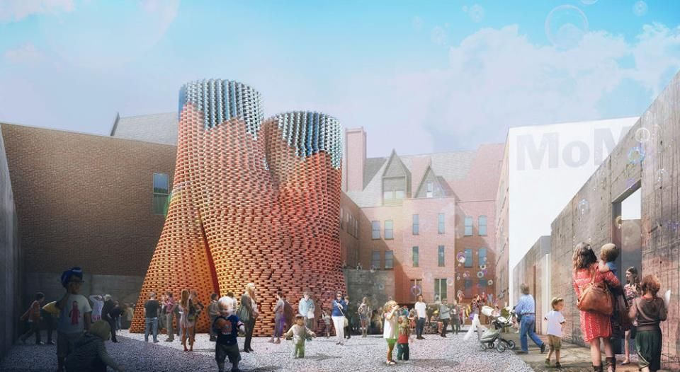 David Benjamin's Hy-Fi, the winning project of The Museum of Modern Art and MoMA PS1's 2014 Young Architects Program