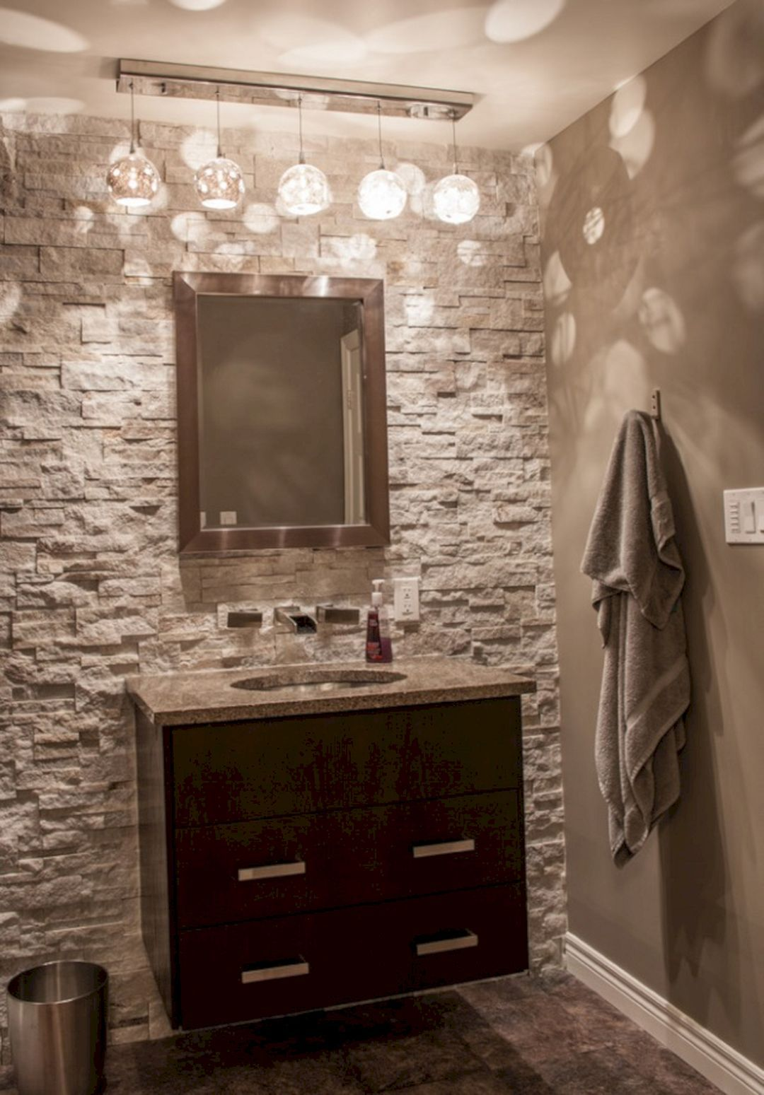 Epic 45 Amazing Rock Wall Bathroom You Need To Impersonate Https Decoredo Com 13316 45 Amazing Small Half Bathrooms Small Bathroom Remodel Powder Room Decor