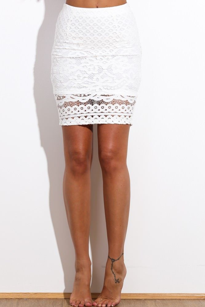 HelloMolly | Get What I Want Skirt White