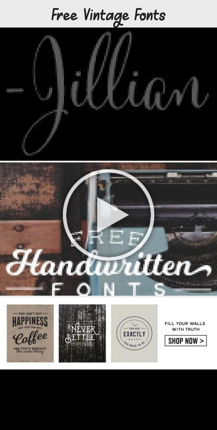 Something About Vintage Typography Conveys A Message Of Authenticity And Quality Take Your Designs Back In T In 2020 Vintage Fonts Text Logo Design Vintage Fonts Free