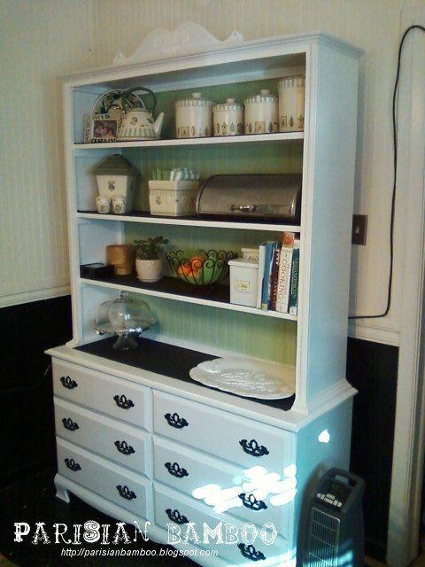 How To Make A Buffet From An Old Dresser Dresser Shelves Old