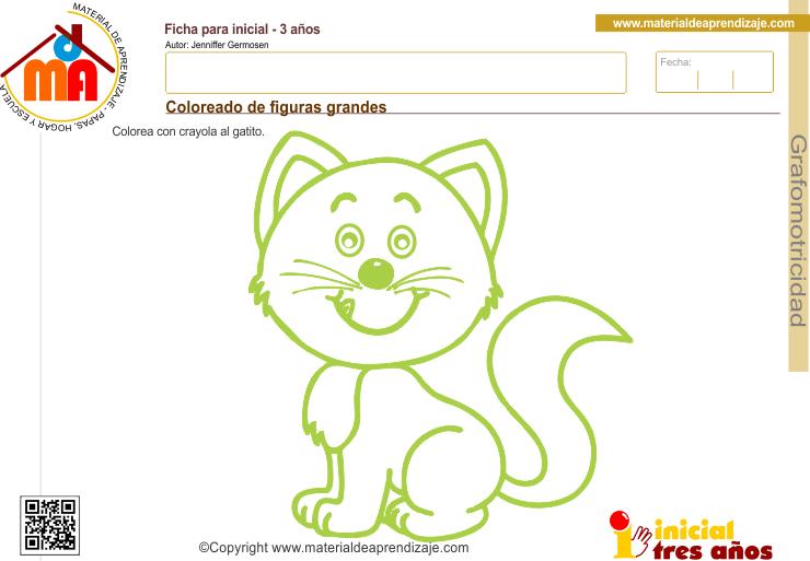 Colorear Dibujos Ninos 3 Anos: Ficha De Grafomotricidad 3 Años: Coloreado De Figuras