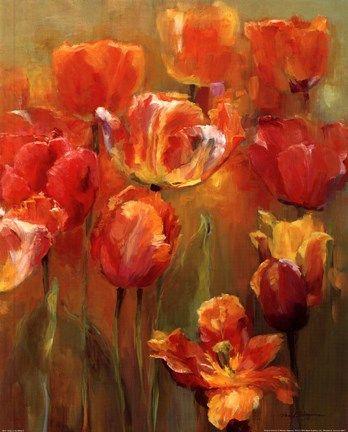 Tulips In The Midst Ii By Marilyn Hageman Tulips Art Tulip Painting Flower Painting
