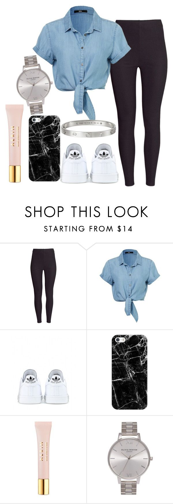 """""""Untitled#1352"""" by mihai-theodora ❤ liked on Polyvore featuring H&M, adidas, Casetify, AERIN, Olivia Burton, Cartier, women's clothing, women, female and woman"""