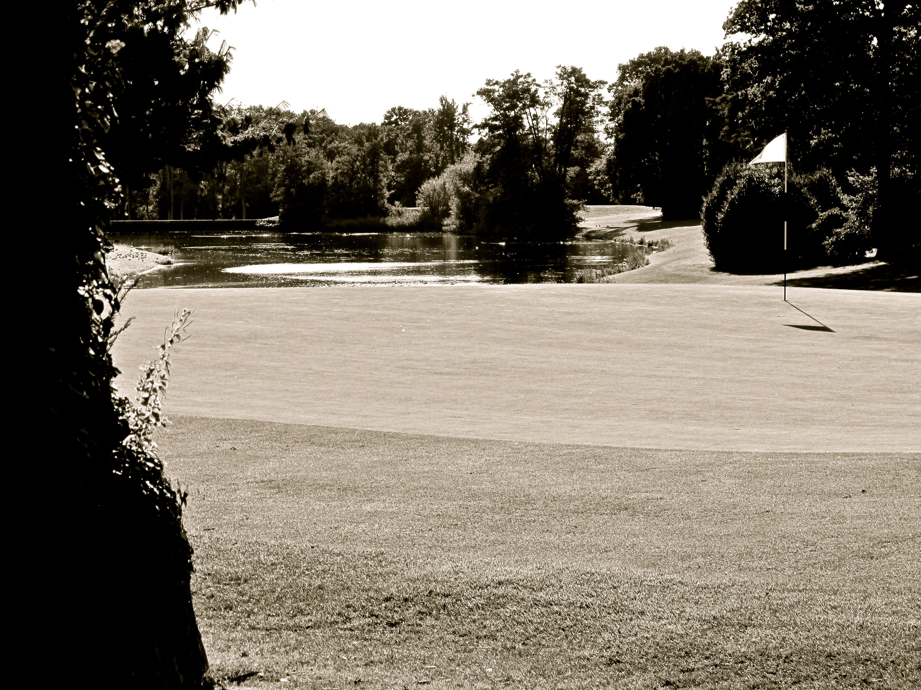 The view from the edge of the 21st Green