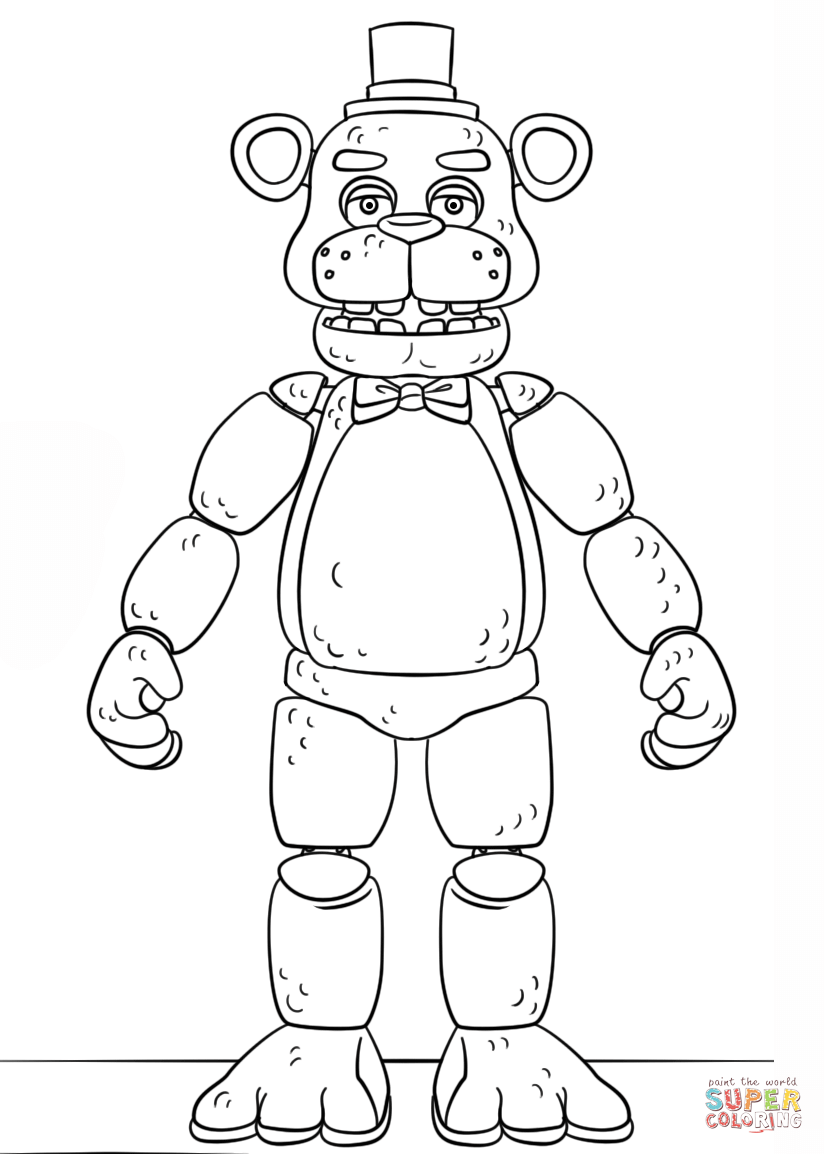 Fnaf Toy Golden Freddy Coloring Page Free Printable Coloring Pages Fnaf Coloring Pages Coloring Pages Mandala Coloring Pages