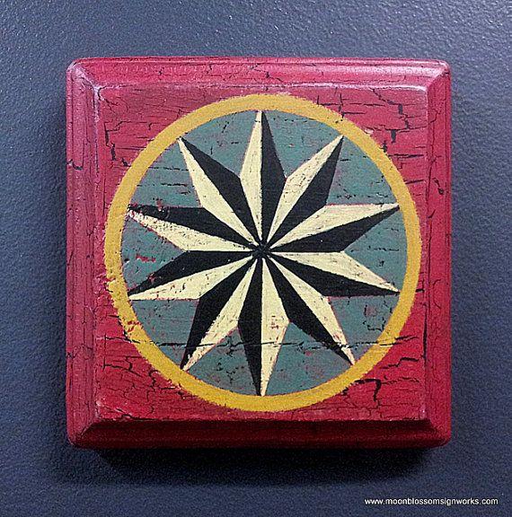 This Mini Folk Art Barn Star Will Cheerfully Decorate A