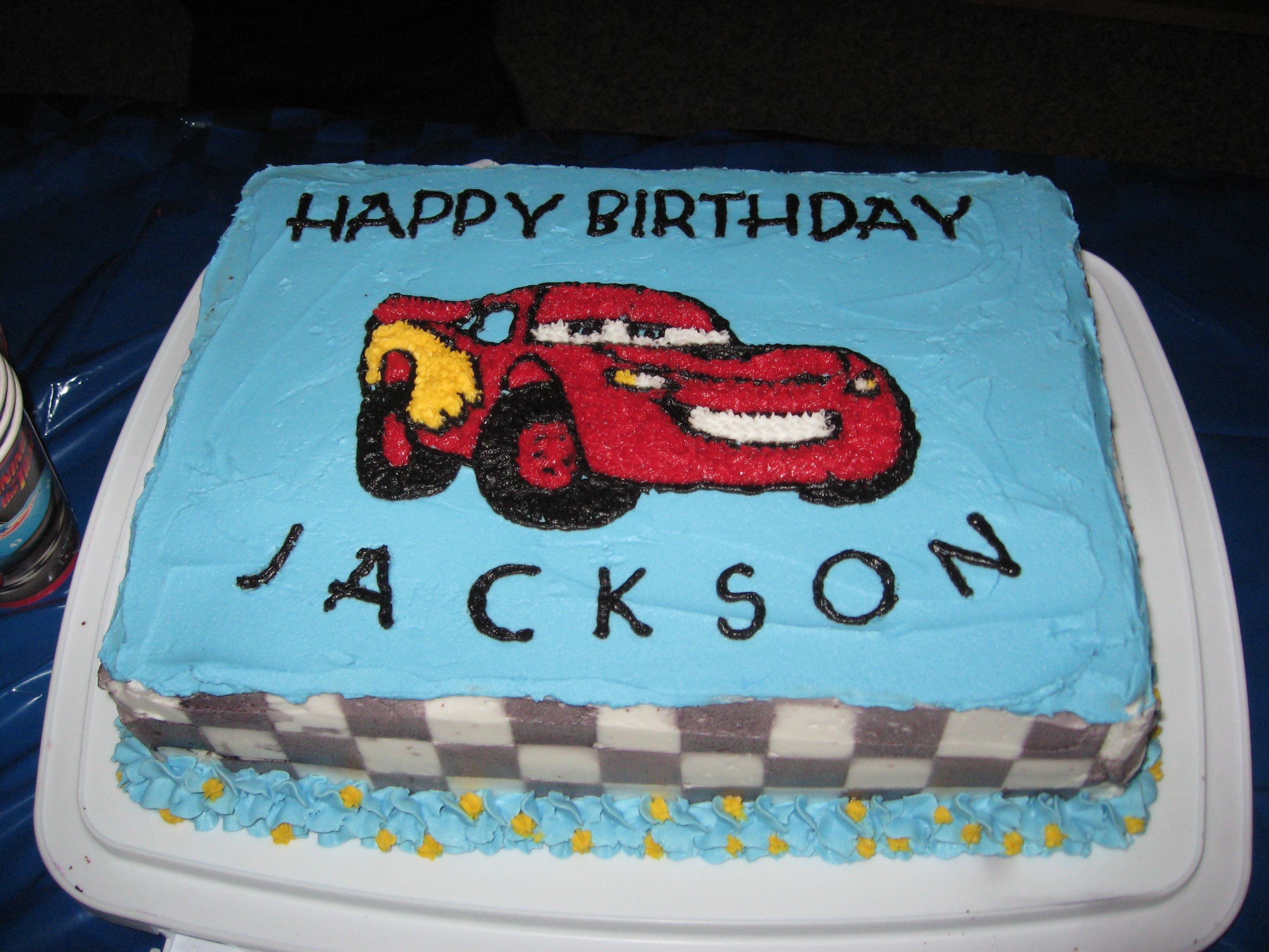 lightning mcqueen birthday cake JHP Party 3 Pinterest