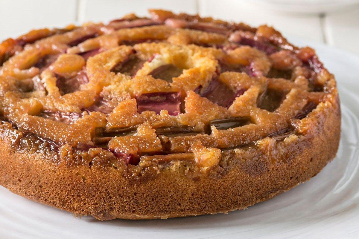 Glutenfree rhubarb and caramel upside down cake recipe