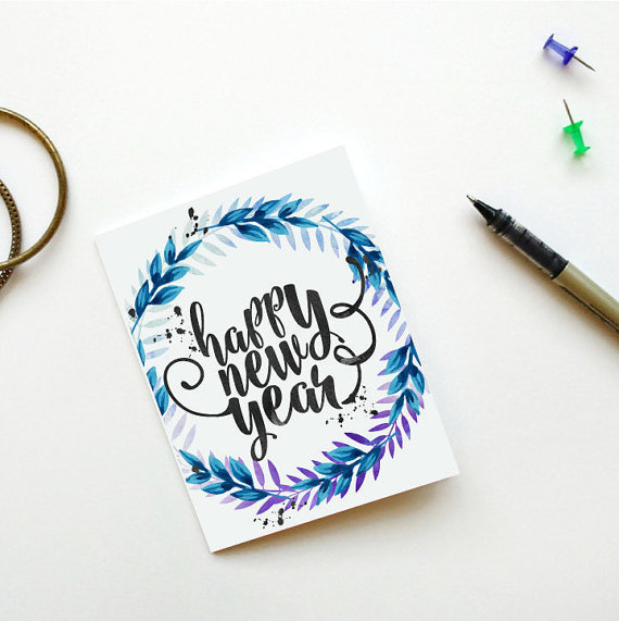 New Years Printable,2018 card,Happy New Year card,Printable New