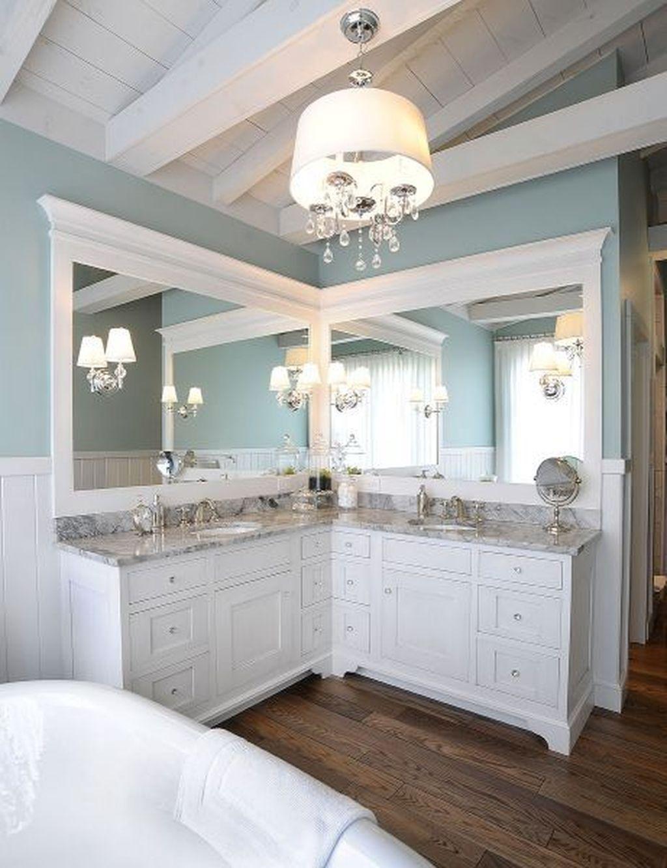 20 Simple Bathroom Mirror Design For Minimalist Ome Trenduhome Bathroom Vanity Designs Bathroom Remodel Master Corner Bathroom Vanity